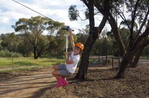 Mary on the Zipline