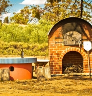 Our wood-fired pizza oven